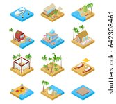 beach vacation collection with... | Shutterstock .eps vector #642308461