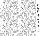 doodle seamless pattern of... | Shutterstock .eps vector #642309271