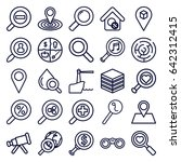 search icons set. set of 25...   Shutterstock .eps vector #642312415