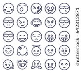 expression icons set. set of 25 ... | Shutterstock .eps vector #642312871