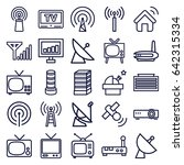 antenna icons set. set of 25... | Shutterstock .eps vector #642315334