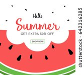 summer sale with cute... | Shutterstock .eps vector #642316285