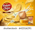 potato chips advertisement ... | Shutterstock .eps vector #642316291