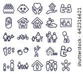 family icons set. set of 25... | Shutterstock .eps vector #642316621