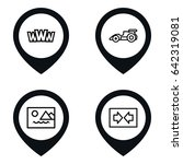 ui icon. set of 4 ui outline...