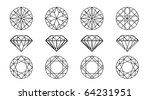 collection round shapes of a... | Shutterstock .eps vector #64231951