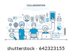 the concept of cooperation ... | Shutterstock .eps vector #642323155