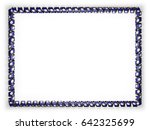 frame and border of ribbon with ... | Shutterstock . vector #642325699