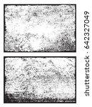 grunge overlay textures.vector... | Shutterstock .eps vector #642327049