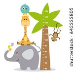 animal wall meter | Shutterstock .eps vector #642333805