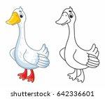 Funny Cartoon Goose. Vector...