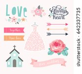 love stickers. signs  symbols ... | Shutterstock .eps vector #642337735