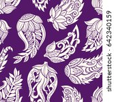 floral seamless pattern. doodle ... | Shutterstock .eps vector #642340159