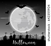 vector halloween day background ... | Shutterstock .eps vector #642355924