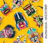 Tribal Mask Ethnic  Seamless...