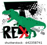 dinosaur on white background ... | Shutterstock .eps vector #642358741