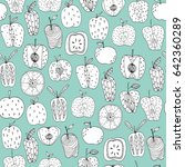 seamless pattern with... | Shutterstock .eps vector #642360289