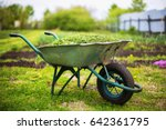 Closeup Vintage Wheelbarrow...