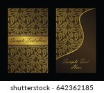 vintage background with gold... | Shutterstock .eps vector #642362185
