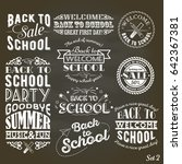 a set of vintage style back to... | Shutterstock . vector #642367381