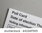 poll card for the uk general... | Shutterstock . vector #642369505