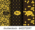 Seamless Different Bees Pattern....