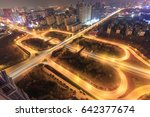 city interchange closeup at... | Shutterstock . vector #642377674