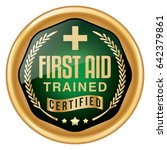 first aid badge | Shutterstock .eps vector #642379861