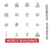 world buildings  pagoda ... | Shutterstock .eps vector #642380905