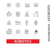 robotics  android  cyborg ... | Shutterstock .eps vector #642381001