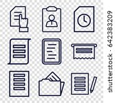 documents icons set. set of 9... | Shutterstock .eps vector #642383209