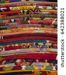 pile of arabic kilims as a...   Shutterstock . vector #642388021