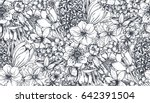 seamless pattern with hand... | Shutterstock .eps vector #642391504