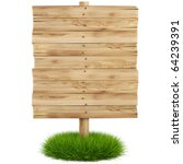 old wooden billboard on the... | Shutterstock . vector #64239391