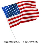 american flag isolated on white | Shutterstock . vector #642399625