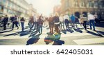 crowd of anonymous people... | Shutterstock . vector #642405031