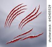 realistic predators wound  scar ...   Shutterstock .eps vector #642405529