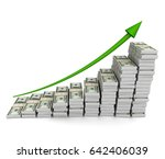 Money Graph 3d Illustration On...