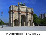 view on arch of triumph...   Shutterstock . vector #64240630