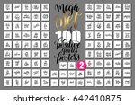 mega set of 100 positive quotes ... | Shutterstock .eps vector #642410875