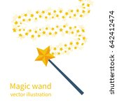 magic wand with a star. trace... | Shutterstock .eps vector #642412474