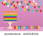 a festive multicolored and... | Shutterstock .eps vector #642418141