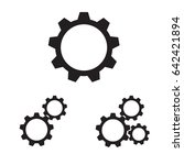 setting icon. tool  cog  gear... | Shutterstock .eps vector #642421894