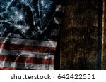 usa flag on a wood surface | Shutterstock . vector #642422551