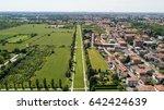 new skyline of milan seen from... | Shutterstock . vector #642424639