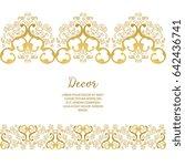 vector gold ornamental ... | Shutterstock .eps vector #642436741