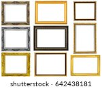 isolated collection frame on... | Shutterstock . vector #642438181