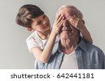 Portrait Of Handsome Grandpa...