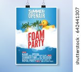 foam party summer open air.... | Shutterstock .eps vector #642441307