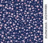 seamless vintage floral pattern ... | Shutterstock .eps vector #642444484